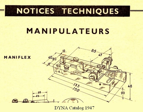 Maniflex, 1947 DYNA catalog, click to enlarge picture.