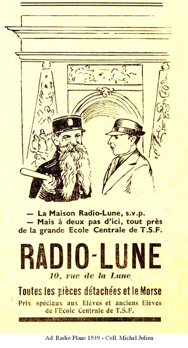 Radio-Lune ad, Radio Pmans 1939, click to enlarge picture.
