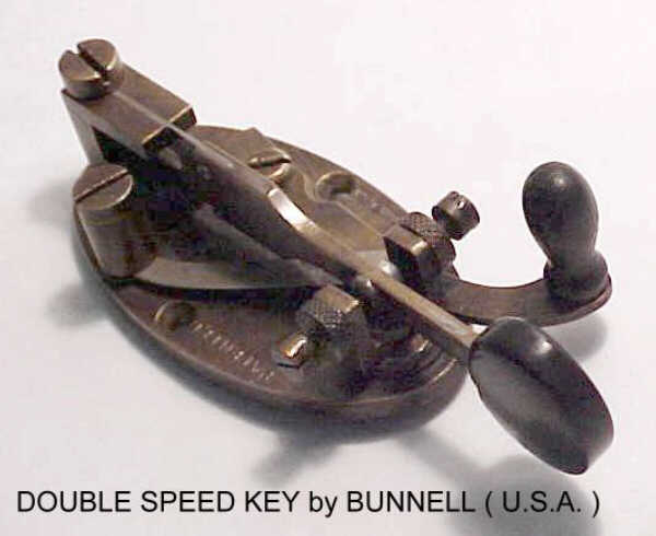 Bunnell Double Speed Key, (F5LAW).