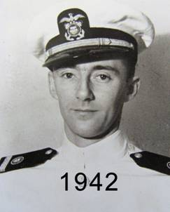 Bob - W6BNB wearing his Merchant Marine officers cap in 1942, click to enlarge picture.